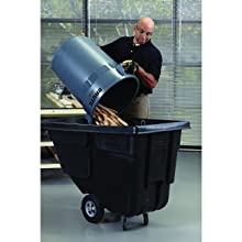 Rubbermaid Commercial FG263200 Gray 32 Gallon LLDPE Round Brute Container without Lid
