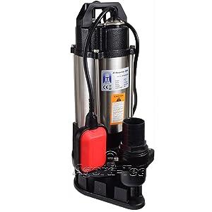 AgoraTec AT Baupumpe550W Tauchpumpe für Schmutzwasser, Abwasser, für Fäkalien und organische Feststoffe mit Schwimmerschalter und max 1,1 bar und max 14500l/h  GartenKundenbewertung und Beschreibung