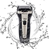 Men's Rechargeable Electric Foil Razor shaver for Men with USB Fast Charging LCD Display, Cordless Professional Wet/Dry Waterproof Travel Foil Razor Cordless for Men (Color: Black, Tamaño: HT965)
