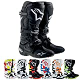 Alpinestars Tech 10 Men's MX Motorcycle Boots - Black / Size 10 (Color: Black, Tamaño: 10)