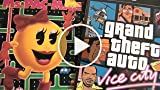 GRAND THEFT AUTO VICE CITY Vs. MS. PAC MAN Packaging...