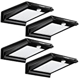 TomCare 20 LED Solar Lights Solar Motion Sensor Outdoor Light Solar Powered Wireless Waterproof Exterior Security Wall Light Patio,Deck,Yard,Garden,Path,Home,Driveway,Stairs,NO DIM MODE(4) (Color: black)
