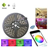 ABelle Bluetooth LED Strip Light 32.8ft RGB Non Waterproof 10M 5050 SMD LED Rope Light iOS Android Smartphone APP Controlled 16 Million Colors Adjustable For Home Kitchen Festival Decoration (Color: RGB, Tamaño: 10M Bluetooth)