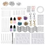 167 Pcs Silicone Casting Molds Resin Jewelry Making Kit,Jeteven Resin Mold Jewelry Tools Kit Silicone Necklace Earrings Jewelry DIY Craft (Color: 167Pcs Casting Mold)