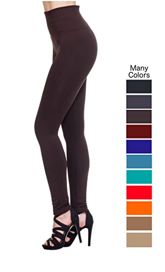 MHOC Fleece Lined Leggings High Waist Thick Slimming Compression Top