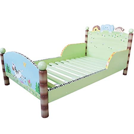 Fantasy Fields by Teamson  Sunny Safari Childrens Wooden Kids Toddlers Bed no Mattress TD-0086A