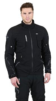 NERVE 1511150804_08 West Coast Blouson Moto Touring Textile, Noir, Taille : 4XL