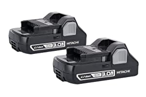 Hitachi 370065 Compact 18V 3.0 Amp Hour Lithium-Ion Slide Style Battery (2-Pack)