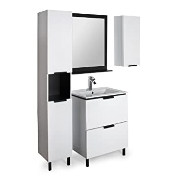 pop bain miroir de de salle de bains gris alinea 60. Black Bedroom Furniture Sets. Home Design Ideas