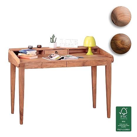 Wohnling escritorio, madera, madera, acacia, 118 x 70 x 86 cm