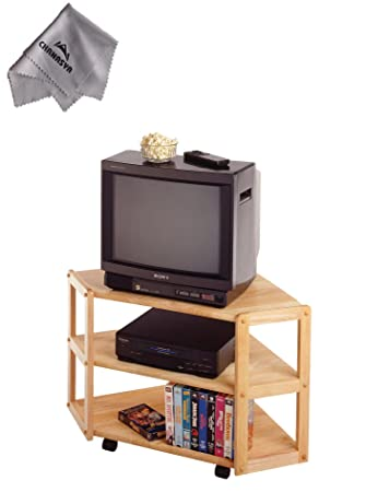 Derby Corner TV Stand With Chanasya Polish Cloth