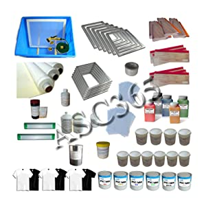 4-4 Screen Printing Press with Materials Package Starter Whole Screen Printing Kit T-shirt Printing