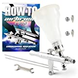 PointZero Dual-Action 4-Color Changing Airbrush Set w/MAC Valve - 3 Tip Set (.3mm .5mm .8mm)
