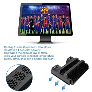 RegeMoudal Vertical Bracket with Cooling Fan for PS4 / PS4 Slim / PS4 Pro, PS4 Series Vertical Bracket with Cooling Fan and Dual Controller Charging Station for PS4/PS4 Slim/PS4 Pro with 3 Built-in C (Color: Black, Tamaño: YTech QI Receiver-modelf332)