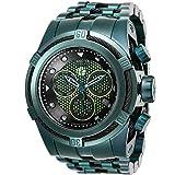 Invicta Reserve Marvel Bolt Zeus Hulk Ltd Edition Swiss Quartz Chronograph Men's 53mm Bracelet Watch (26013) (Color: Green, Tamaño: 53mm)