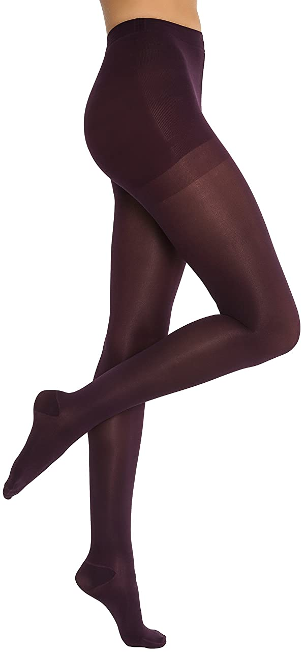 JOBST Opaque Waist High 15-20 mmHg Compression Stockings Pantyhose, Closed Toe, X-Large, Cranberry (Color: Cranberry, Tamaño: X-Large)