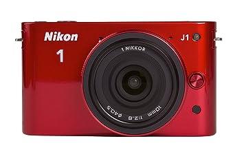 Nikon 1 J1 Kit Compact numérique hybride 10,1 Mpix Rouge glossy + Objectif 10 mm