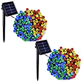 Binval Solar String Lights Multicolor for Outdoor,Patio,Lawn,Landscape,Fairy Garden,Home,Wedding,Holiday,Christmas Party and Xmas Tree Decorations[72feet-200LED-Multi-Color] 2-pack (Color: Multicolor 2-pack)