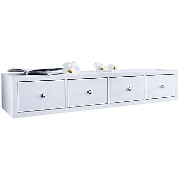 wandregal mit 4 schubladen neu us32. Black Bedroom Furniture Sets. Home Design Ideas