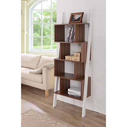 Furniture of America Danbury Contemporary 5-shelf 2-tone Bookshelf Display Stand