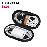 Headphones Carrying Case, Travel Portable Storage Bags for Bluetooth Wireless Headphones, Cords, Cable, Iphones Earbuds, Charger, Airpods, USB Flash Driver, MP3(Oval) (Tamaño: Oval)