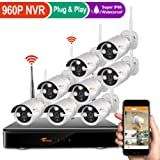 Corsee Auto Pair 8ch 960P Dvr Wireless Surveillance Camera System with Wifi Night Vision 720P Cameras and Easy View by Ios or Android App No Hard Drive?