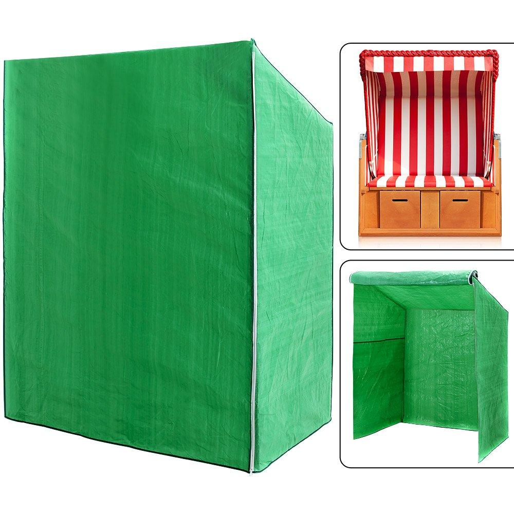 Schutzhülle Strandkorb - 165 x 125 x 90cm - grün