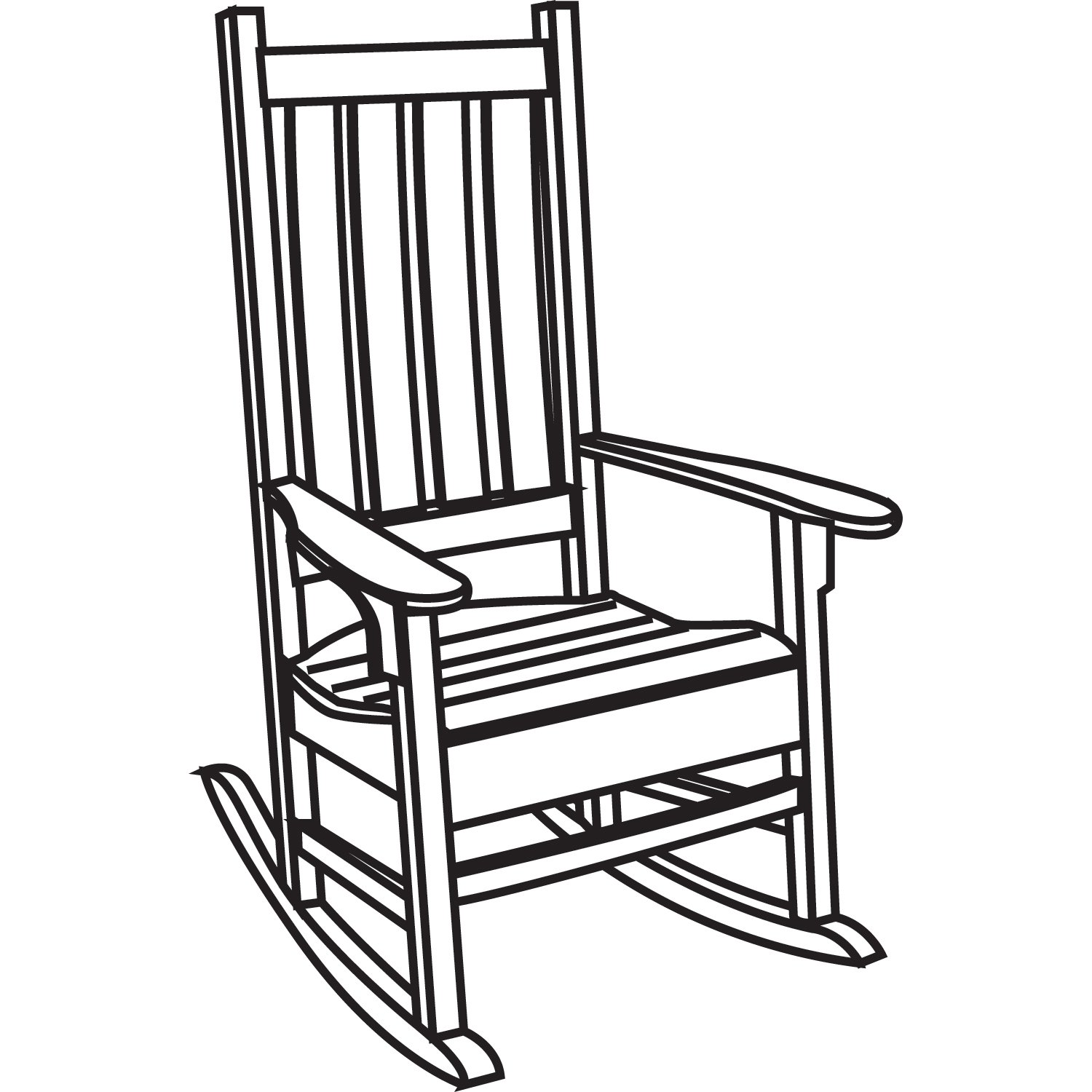 Black and white chair drawing - How To Draw A Rocking Chair Plans Diy Free Download Cedar Trellis