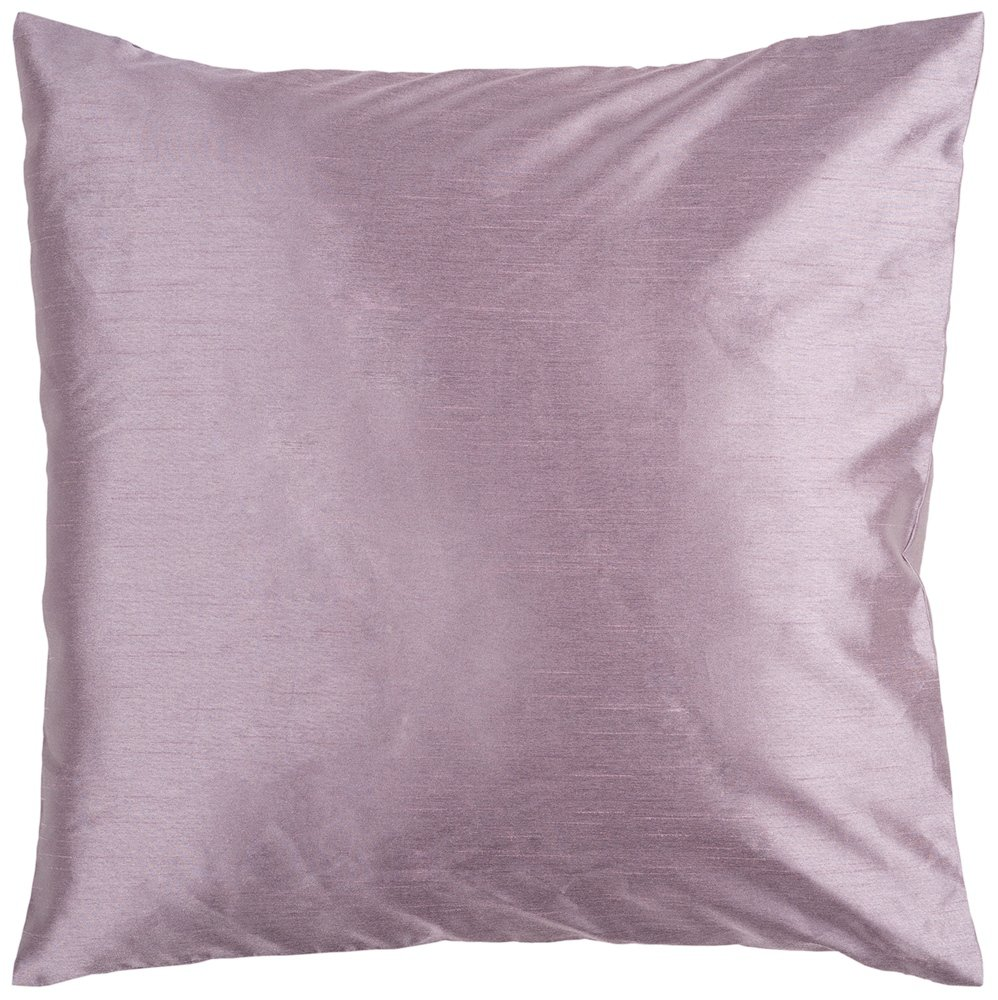 Surya HH-030 Hand Crafted 100% Polyester Lavender 18 x 18 Solid Decorative Pillow