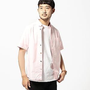 BEAMS / ブロード マルチ釦 半袖シャツ