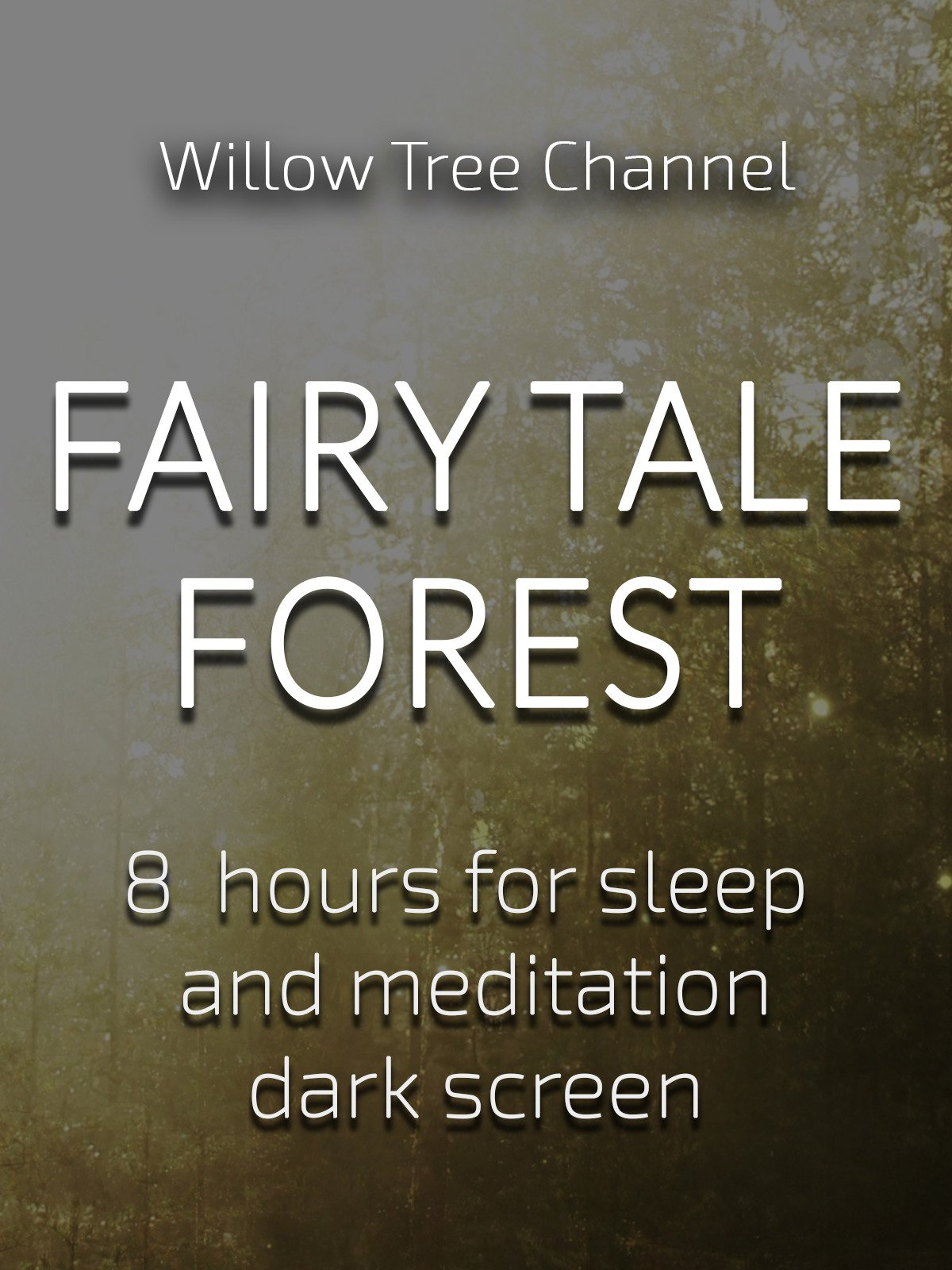 Fairy tale forest, 8 hours for Sleep and Meditation, dark screen