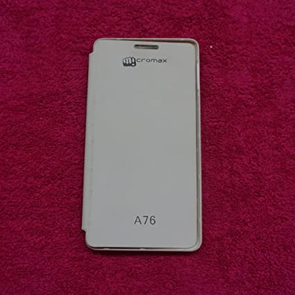 FLIP COVER MICROMAX A76 WHITE available at Amazon for Rs.199