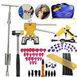 VTOLO Paintless Dent Repair PDR Kit- Dent Lifter Puller Grip PRO Slide Hammer Auto Body Removal Tool with Dent Hammer Tab Down Tools 100W Glue Gun (Color: Paintless Removal Kit, Tamaño: GJ1846)