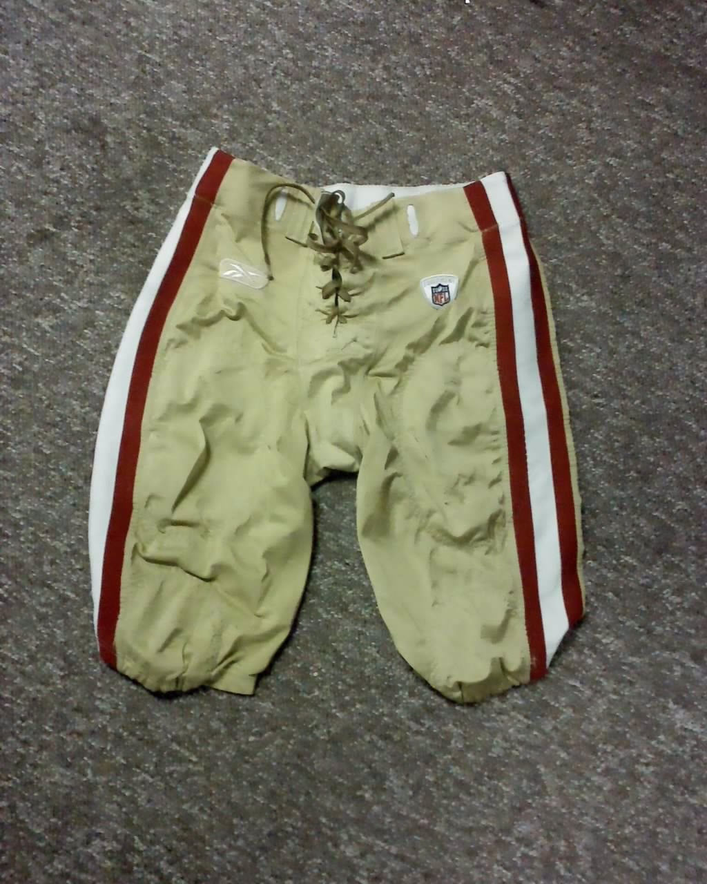 Frank Gore San Francisco 49ers 2009 Game Pants larry loves san francisco