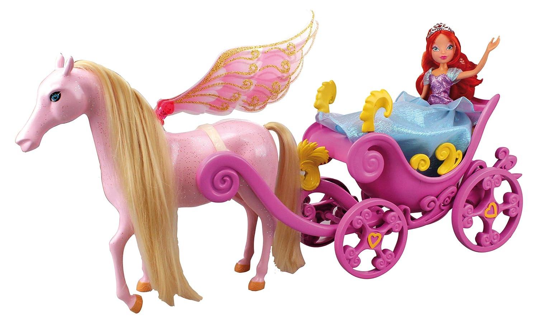 Carrozza winx principessa bloom fairy dream cavallo fatato