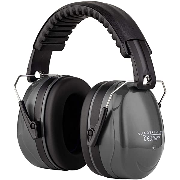 Ear Defenders Adult - Foldable Hearing Protection Ear Muffs Noise Cancelling - Perfect for DIYm Working, Shooting, Gardening - Adjustable Headband for Adults Men Women - 2 Years Warranty - Gray (Color: Gray)