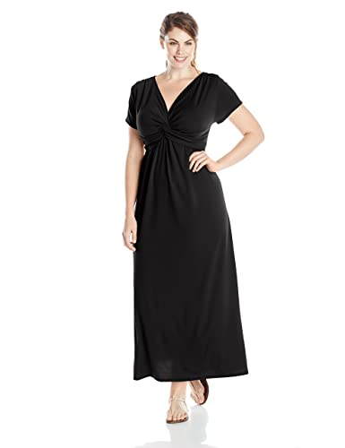 Plus size black maxi dresses with sleeves