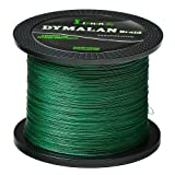 JIMEI Braided Fishing line 100m/109yds 30LB Green 4 Strands PE Braid Superline - Abrasion Resistance Fishing Line - Zero Stretch - Thinner Diameter for Saltwater & Fresh Water By DYMALAN (Color: Moss Green, Tamaño: 30LB/14.1KG 0.25mm-109 Yds)