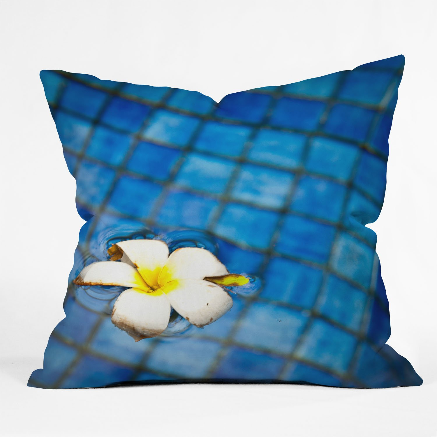 Large Flower Throw Pillow : Throw Pillow, 26 x 26-Inch DENY Designs Flower Bed Sofa Large Pillow eBay
