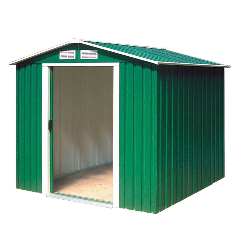 Tepro Gartenhaus / Metallgerätehaus Riverton 6×6 grün günstig