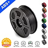ABS Filaments for 3D Printer-SUNLU Black ABS Filament 1.75 mm,Low Odor Dimensional Accuracy +/- 0.02 mm 3D Printing Filament,2.2 LBS (1KG) Spool 3D Printer Filament for 3D Printers & 3D Pens,Black (Color: ABS-Black-1KG)