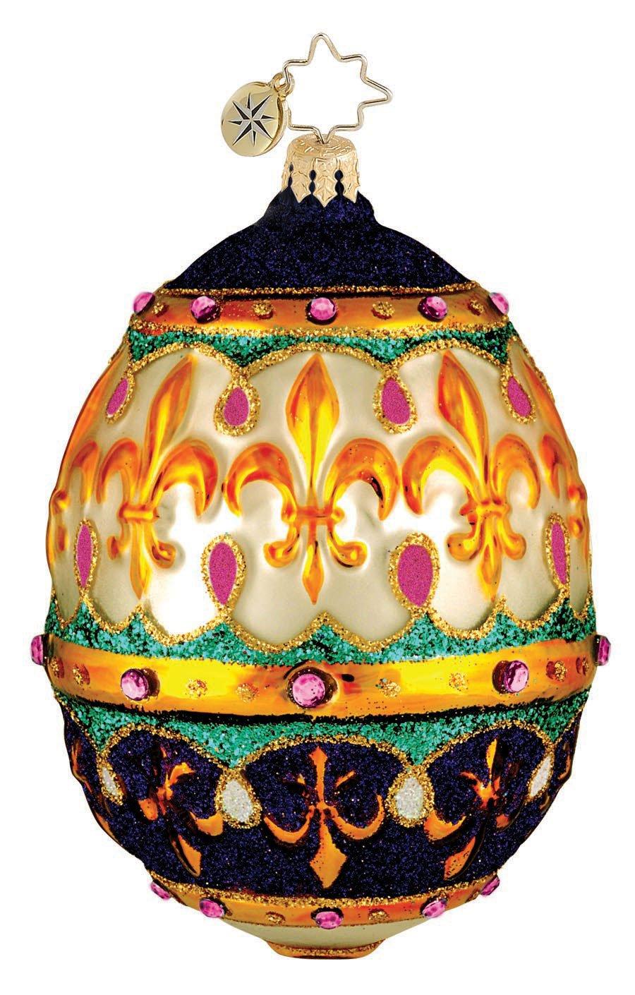BEJEWELED Egg Purple Easter Glass Ornament