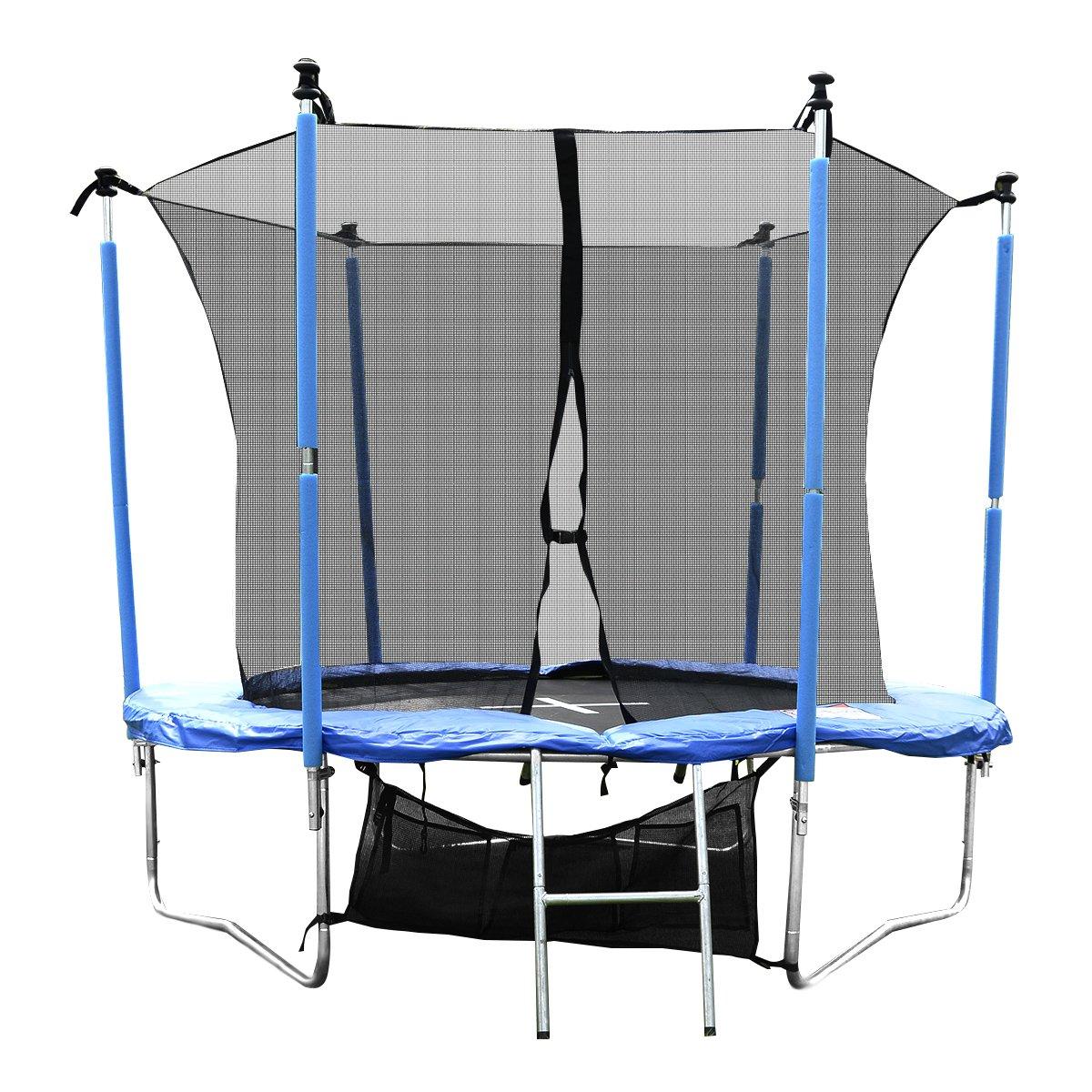 Sports Trampoline Gartentrampoline Outdoor Komplettset inkl. Sicherheitnetz,Leiter,Schuhtasche und Regenabdeckplane diverse Größen jetzt bestellen