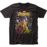 Impact Avengers Infinity War Group Shot Adult T-Shirt - Black (Large) (Color: Black, Tamaño: Large)