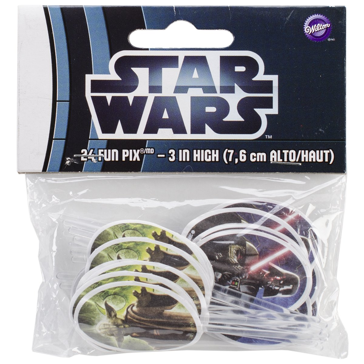 Wilton Star Wars Darth Vader and Yoda Cupcake Picks 24 Count   Revisión del cliente y más noticias