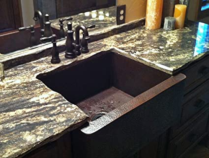 "25"" Petite Single Well Copper Farmhouse Sink"