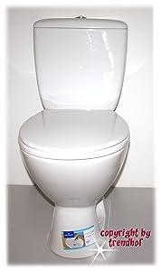 Stand WC Set Toilette bodenstehend Abgang senkrecht Spülkasten Keramik + WC Sitz  BaumarktKundenbewertung und Beschreibung