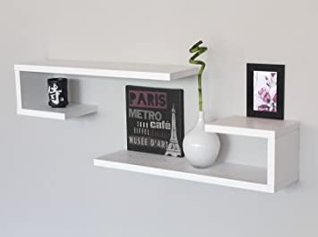 Basics Noce 5 ganci moderni 57 cm Confezione da 2 Legno Appendiabiti da parete