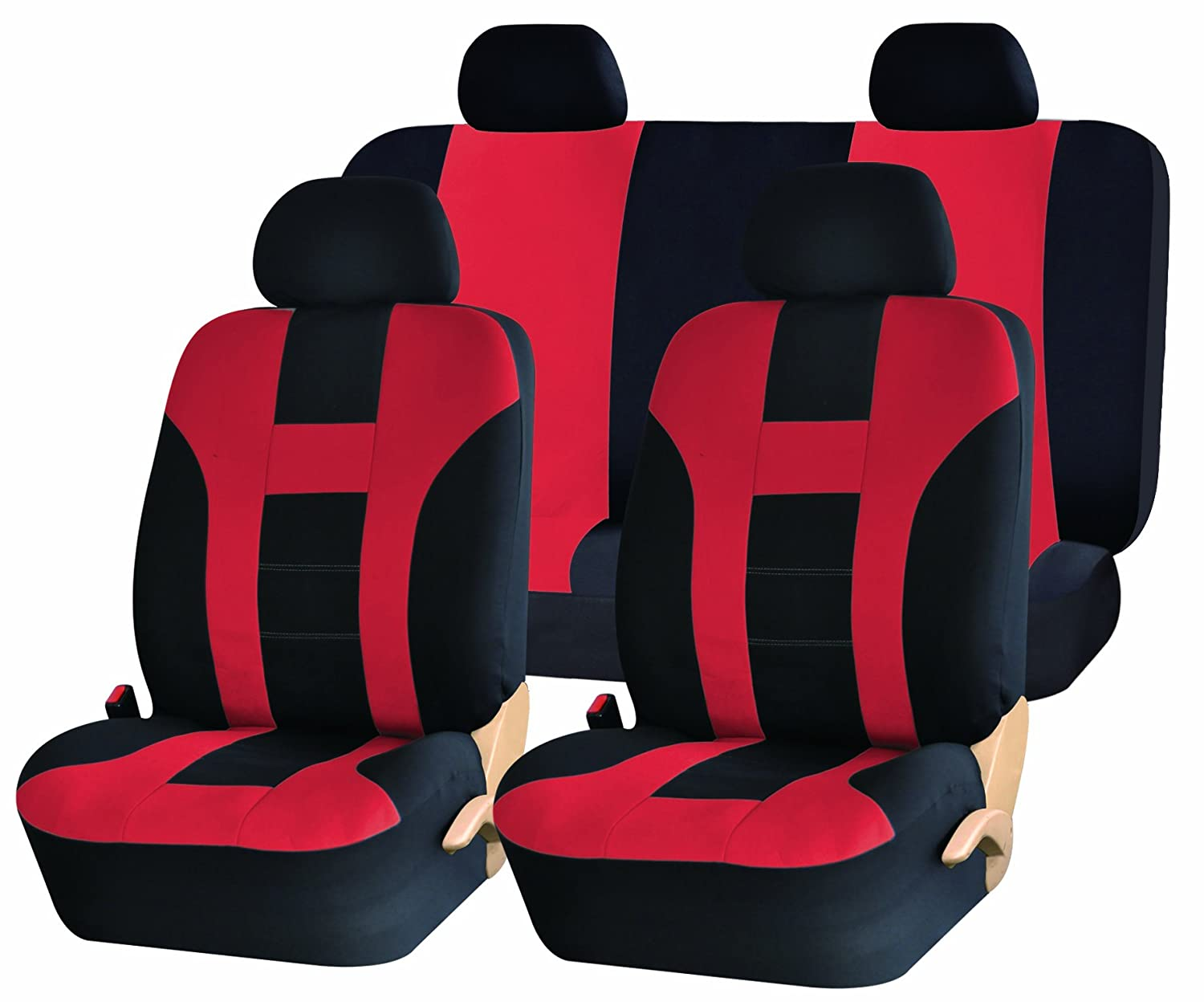 racing style black and red vinyl car recliner universal. Black Bedroom Furniture Sets. Home Design Ideas