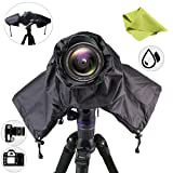 Getfitsoo Professional Waterpoof Rain Cover for Canon Nikon DSLR Cameras - Protect from Rain Snow Dust Sand (Color: Black, Tamaño: Medium)